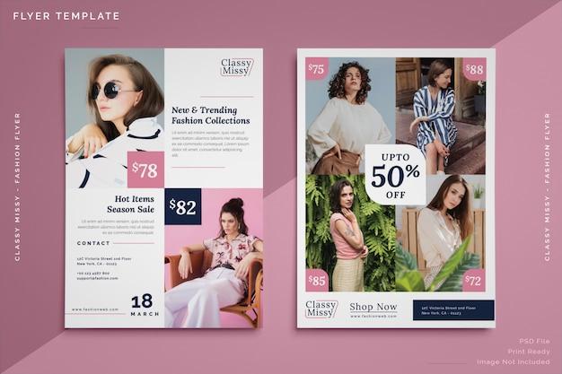 Mode-verkauf flyer vorlage Premium PSD