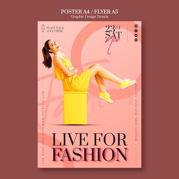 Modegeschäft poster vorlage Kostenlosen PSD