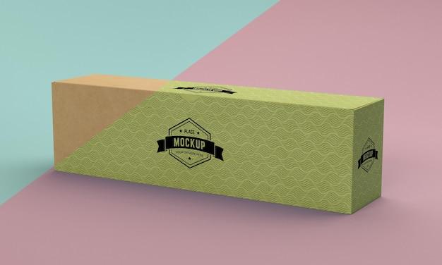 Modell der verpackungsbox Kostenlosen PSD