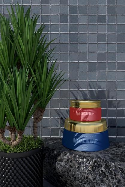 Modell des kosmetischen verpackungsdesigns. verpackung für branding design Premium PSD