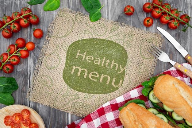 Modell für gesundes essen Kostenlosen PSD