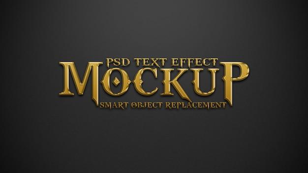 Modell für goldene und schwarze texteffekte Premium PSD