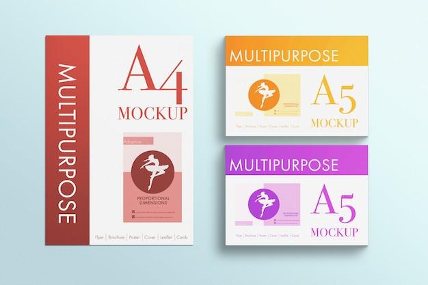 Modell für mehrzweck-a4-papiere Kostenlosen PSD