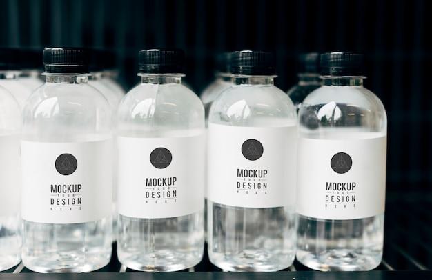 Modell für mineralwasserflaschen Kostenlosen PSD