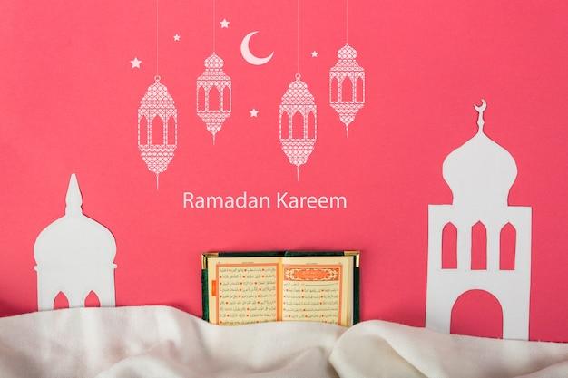 Modell mit ramadan-konzept Kostenlosen PSD