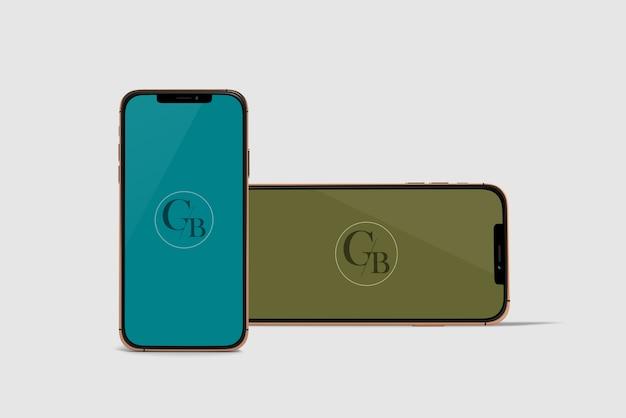 Modell mit zwei telefonen Premium PSD