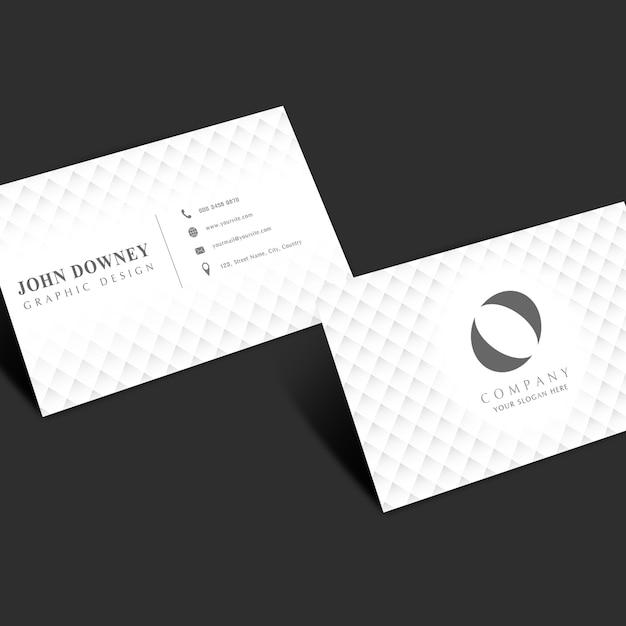 Modell Von Weißen Visitenkarten Download Der Premium Psd
