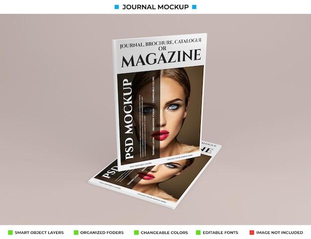 Modelldesign für magazine, zeitschriften oder kataloge Premium PSD