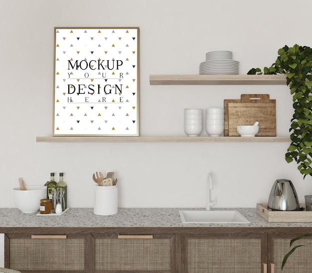 Modellplakat im modernen küchendesign Premium PSD