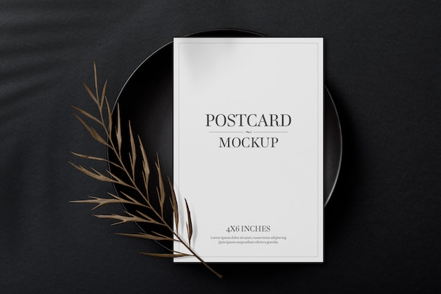 Modellvorlage für postkarte und einladungskarte Premium PSD