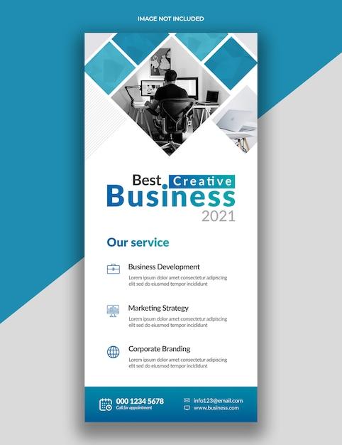 Moderne einfache corporate rollup standee x-banner-vorlage Premium PSD