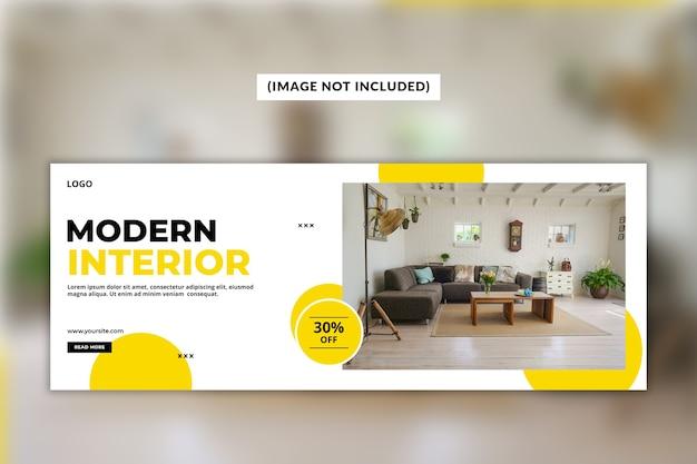 Moderne facebook-deckblattvorlage Premium PSD