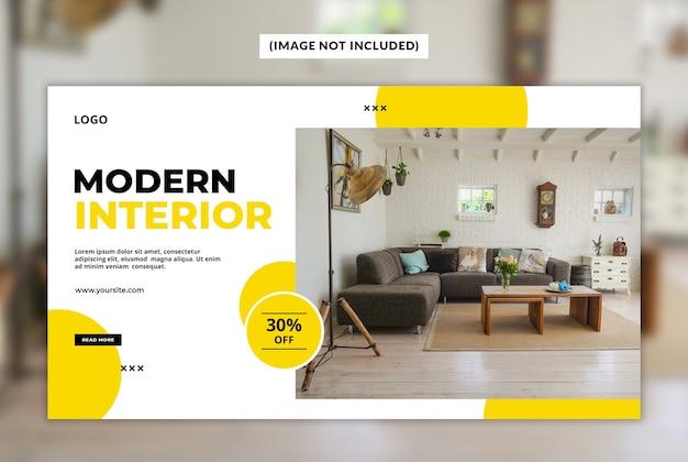 Moderne innenwebfahnenschablone Premium PSD