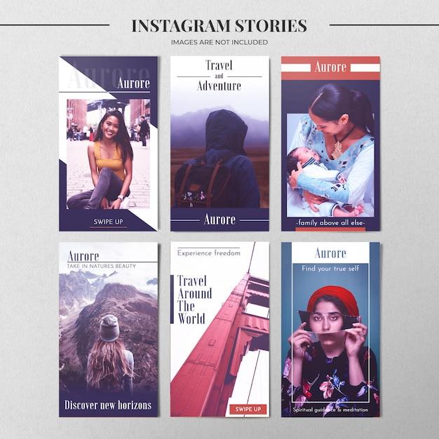 Moderne instagram story-vorlage Kostenlosen PSD