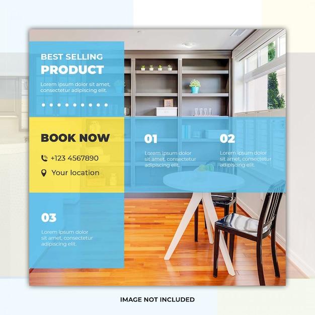 Moderne möbel social media banner post vorlage Premium PSD