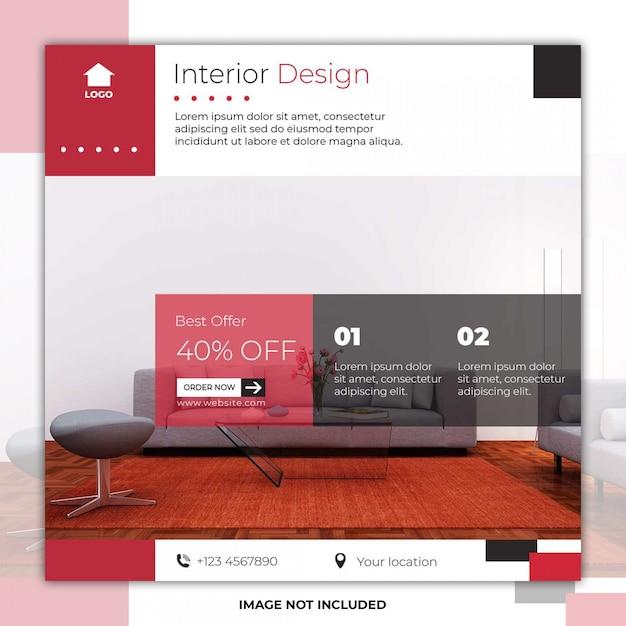 Moderne möbel social media post banner Premium PSD