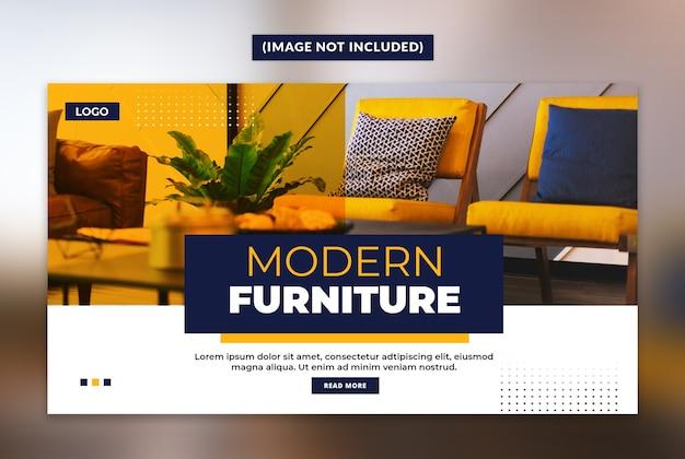 Moderne möbel web banner vorlage Premium PSD