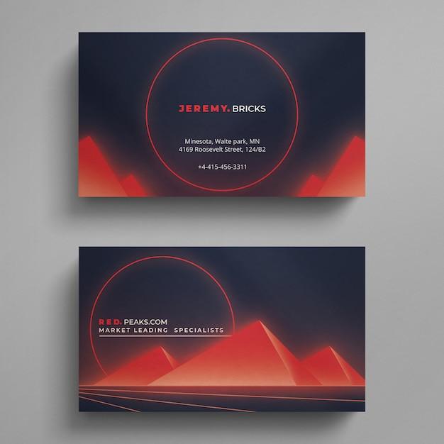 Moderne rote und blaue visitenkarte Premium PSD