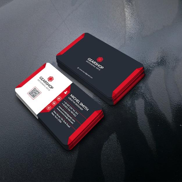 Moderne unternehmensvisitenkarte Premium PSD