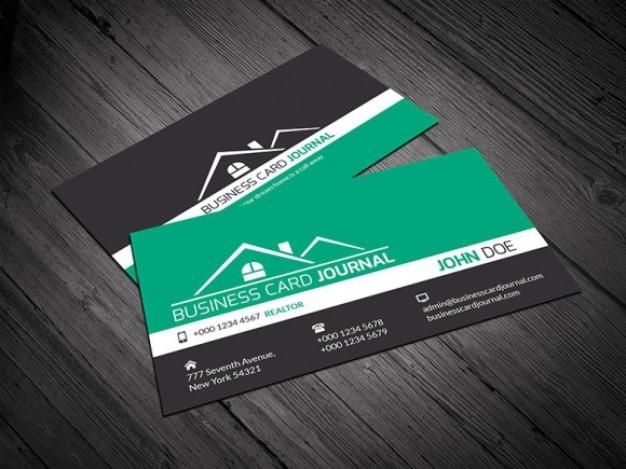 Moderne Visitenkarte Vorlage Corporate Design Kostenlose