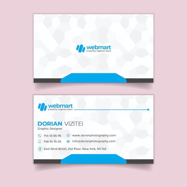 Moderne visitenkarte Premium PSD