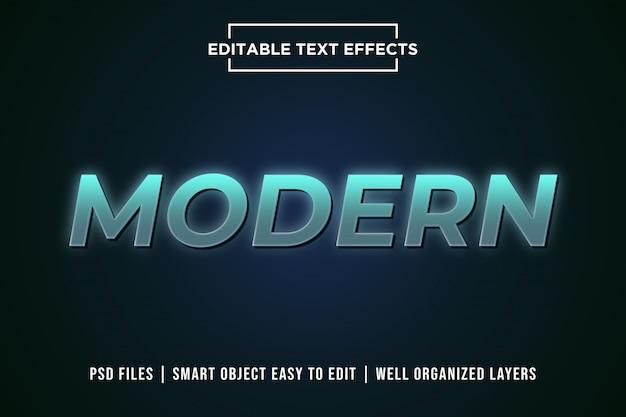 Moderner 3d text style effekt premium psd Premium PSD