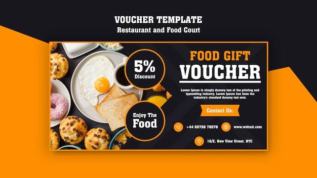 Moderner gutschein für das frühstücksrestaurant Kostenlosen PSD