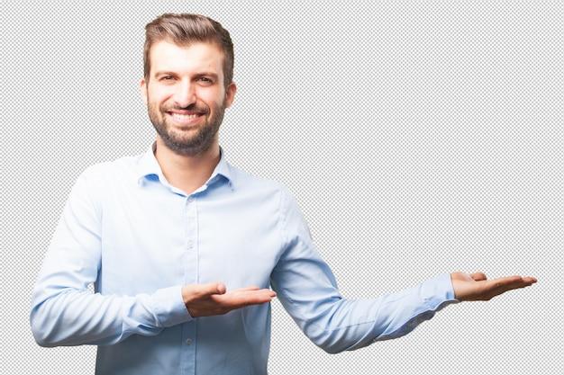 Moderner mann, der ihr konzept darstellt Premium PSD