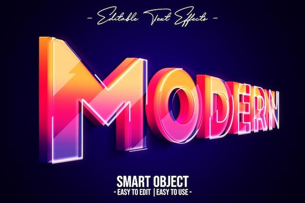 Moderner textstil-effekt Premium PSD