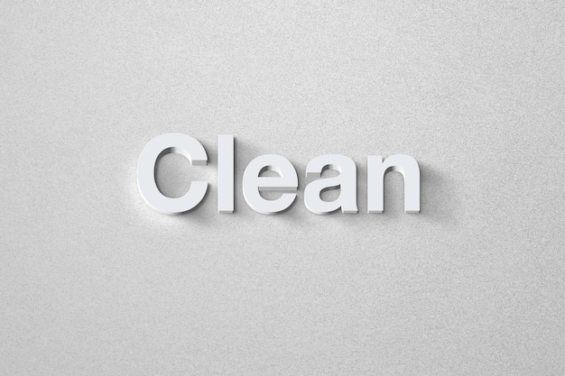 Moderner und klarer texteffekt mit einer eleganten stilvorlage Premium PSD