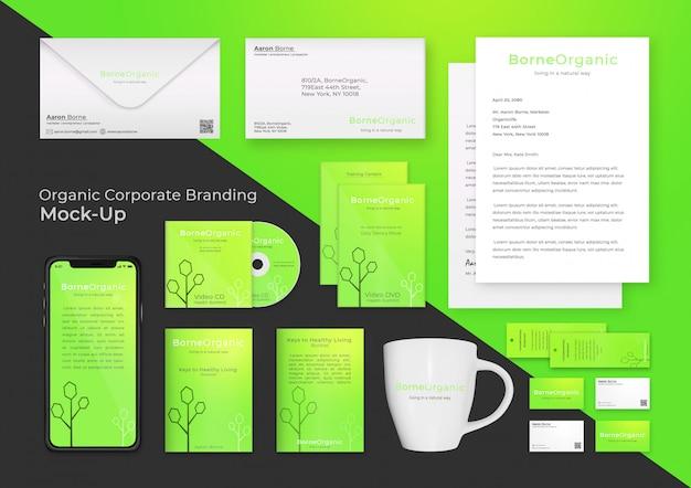Modernes corporate branding mock up Premium PSD