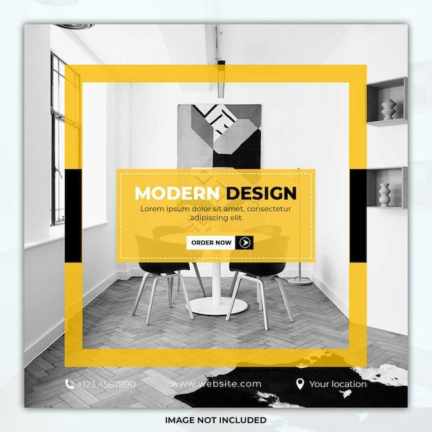 Modernes design möbel social media post vorlage banner Premium PSD