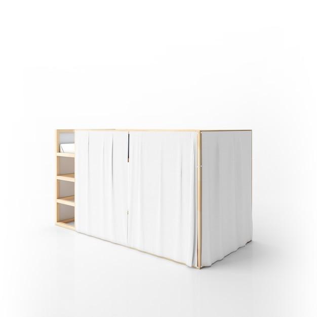 Modernes etagenbett design isoliert Kostenlosen PSD