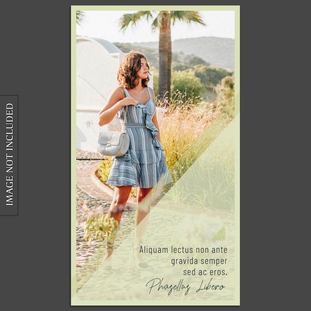 Modernes foto-mockup und instagram-geschichten-schablone für social media-profil Premium PSD