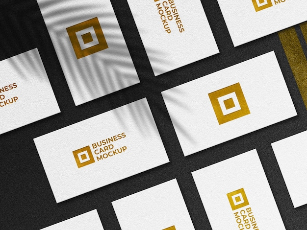 Modernes goldenes visitenkartenmodell Premium PSD