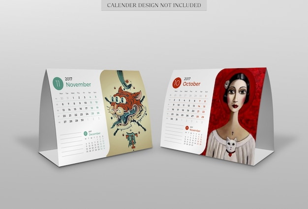 Modernes kalendermodell Premium PSD