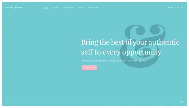 Modernes mehrzweck-website-design, landingpage-vorlage Premium PSD