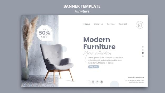 Möbel banner vorlage Premium PSD
