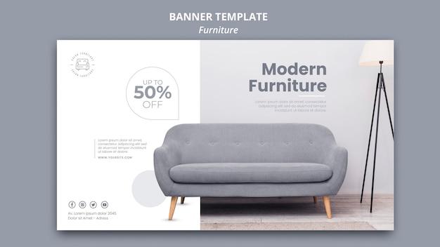 Möbel banner vorlage Kostenlosen PSD