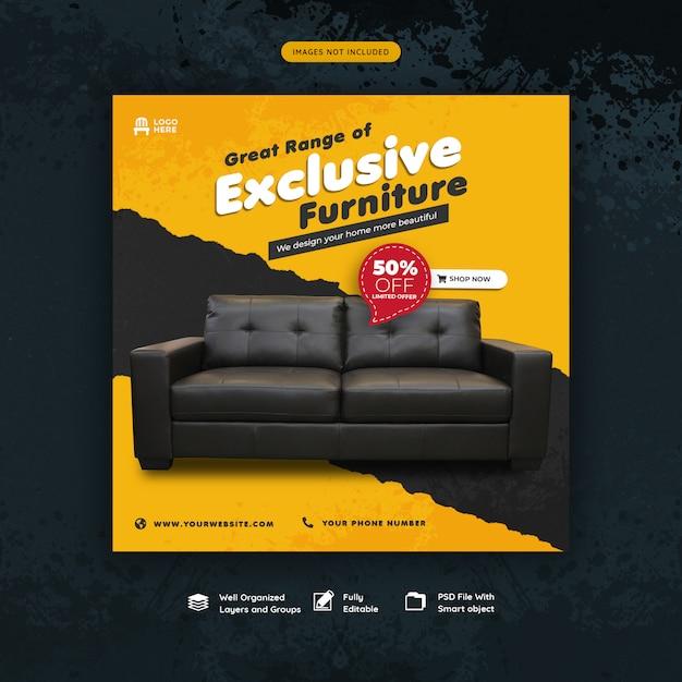 Möbel instgram beitragsvorlage Premium PSD