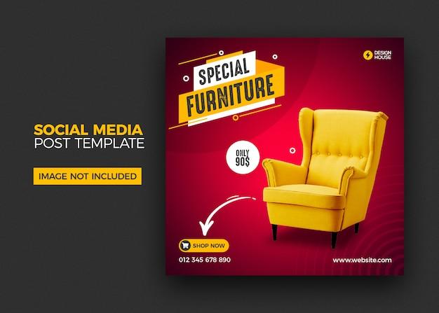 Möbel social media instagram post vorlage Premium PSD