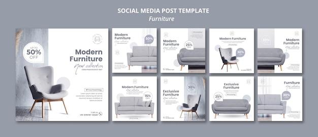 Möbel social media post Premium PSD