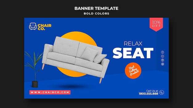Möbelgeschäft anzeige banner vorlage Kostenlosen PSD