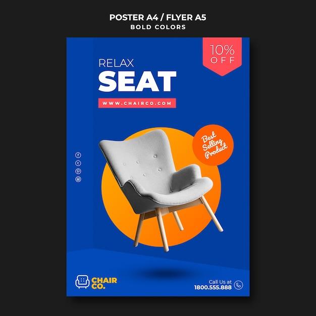 Möbelgeschäft vorlage flyer Kostenlosen PSD