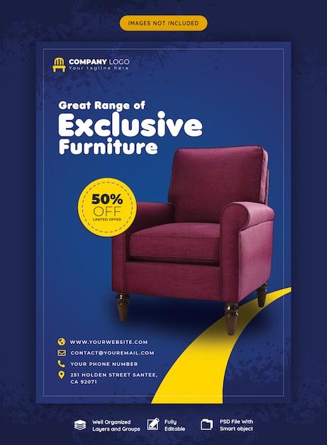 Möbelverkauf flyer vorlage Premium PSD