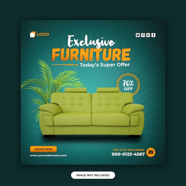 Möbelverkauf social media post banner design-vorlage Premium PSD