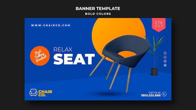 Möbelvorlage anzeigenvorlage banner Kostenlosen PSD