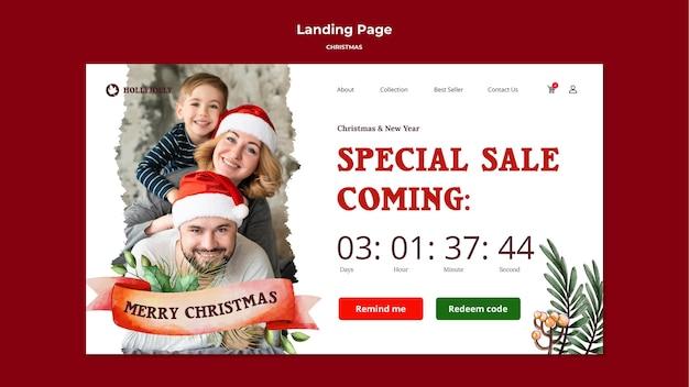 Mögen ihre weihnachten hell und fröhlich landing page sein Kostenlosen PSD