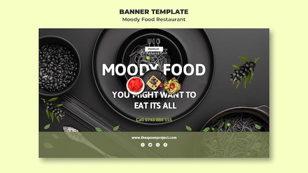 Moody food restaurant banner vorlage Kostenlosen PSD
