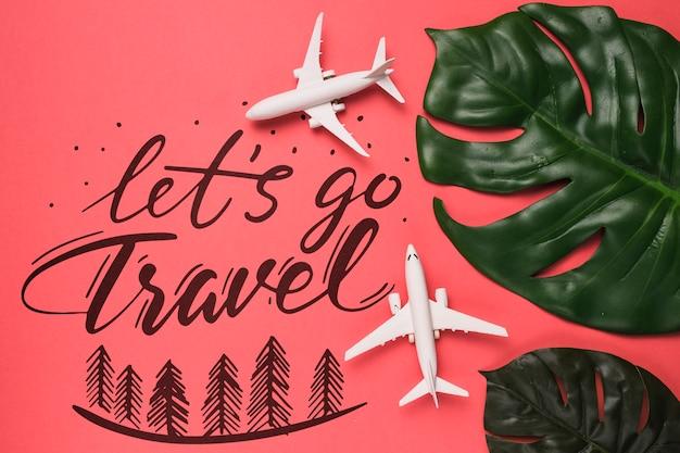 Motivbeschriftungszitat für reisendes konzept der feiertage Kostenlosen PSD